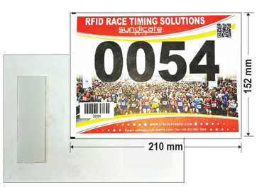 RFID marathon bibs with Foam